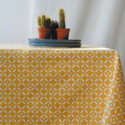 Wipe clean tablecloth Mosaic Curry round or oval