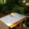 Chemin de table cerisier gris rose