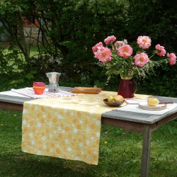 Wipe clean table runner Herbs yellow