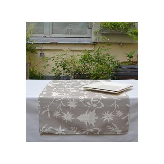 Wipe clean table runner Mountain beige