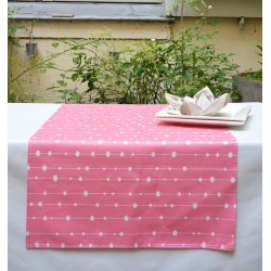 Wipe clean table runner Pearls pink