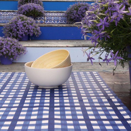WIPE CLEAN PlACEMATS Vichy marine