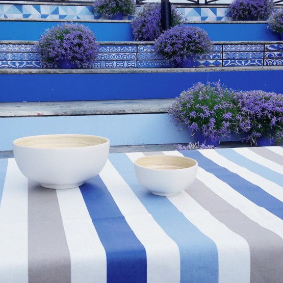 Wipe clean placemats Stripes taupe/blue
