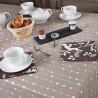 Cotton tablecloth Pearls taupe
