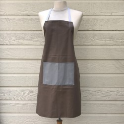 cooking Apron unisex Herringbone graphite