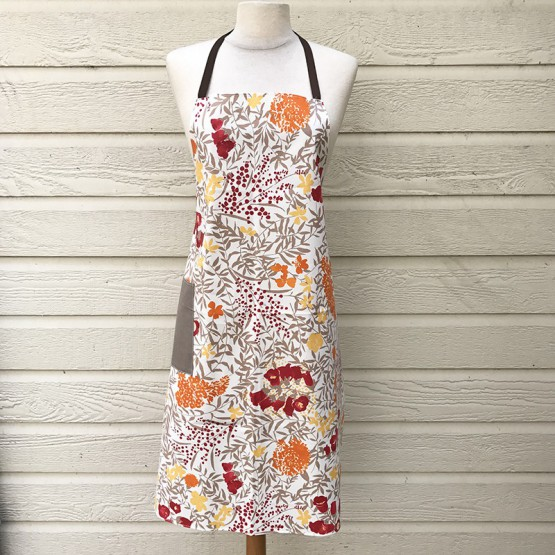 Floral Apron Mimosa red