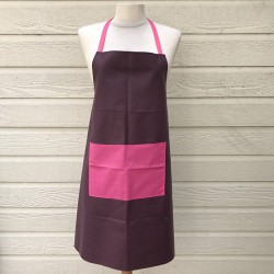 Women Apron Purple with a spacious front pocket