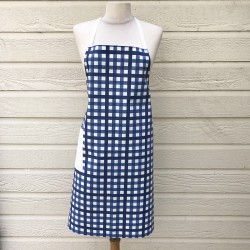 Apron Gingham blue