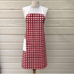 Apron Gingham red
