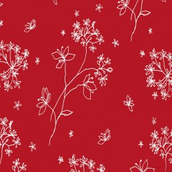 Pattern Astrancia red