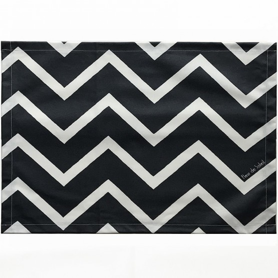 Set de table Chevrons noir