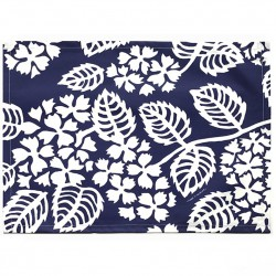 Wipe clean placemats Hydrangea navy