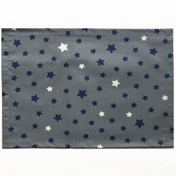 Placemats Stars grey navy/beige