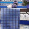 Cotton fabric Gingham blue