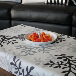 Wipe clean tablecloth Coral grey