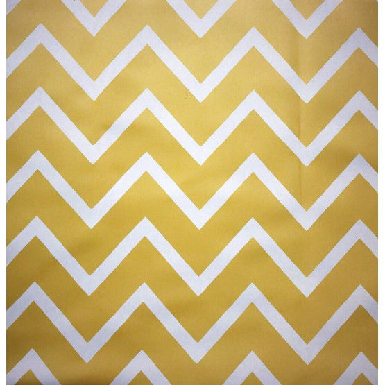 Wipe clean fabric Chevron Curry