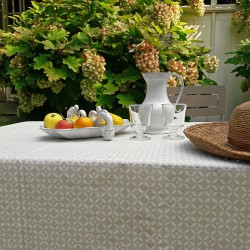 Wipe clean tablecloth Mosaic Sandstone round or oval