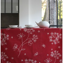 Wipe clean tablecloth Astrancia red