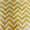 Nappe coton Chevron jaune curry