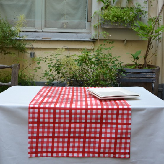 Chemin de table Guinguette rouge