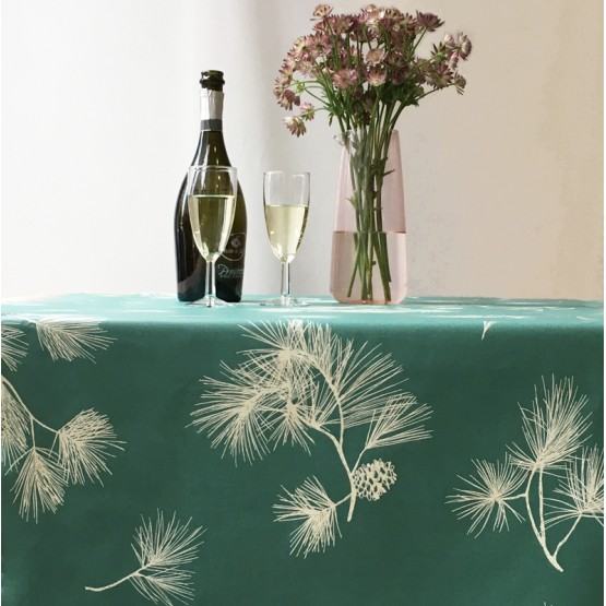 Cotton tablecloth Pine Tree Green