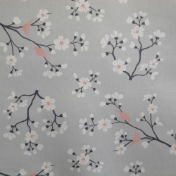 Pattern Cherry tree Grey/Pink