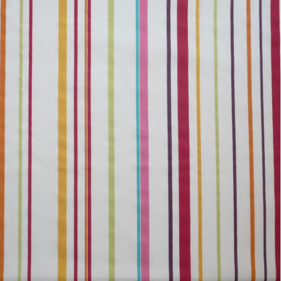 FLEUR DE SOLEIL OEKO TEX COTTON FABRIC STRIPE MULTICOLOURED