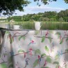 Wipe clean tablecloth Exotic Birds round or oval
