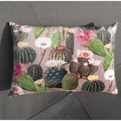 Coussin velours cactus
