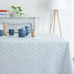 Wipe clean tablecloth Papyrus grey
