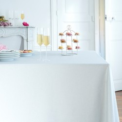 Wipe clean tablecloth Silver sequined