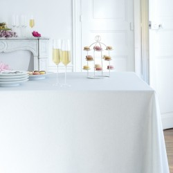 Wipe clean tablecloth Plain pastel grey round or oval