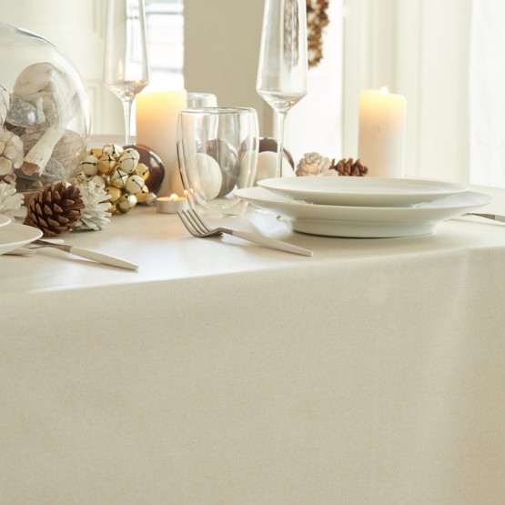 Wipe clean tablecloth Golden sequined