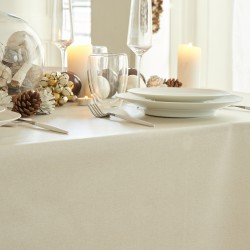 Wipe clean tablecloth Golden sequined round or oval