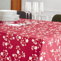 Wipe clean tablecloth Japanese Cherry Burgundy