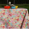 Wipe clean tablecloth yellow birds round or oval