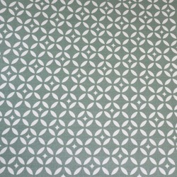 Cotton fabric Mosaic Green