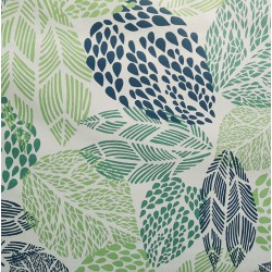 Wipe clean fabric Mosaic green