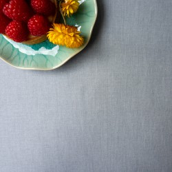 Wipe clean table runner Plain grey