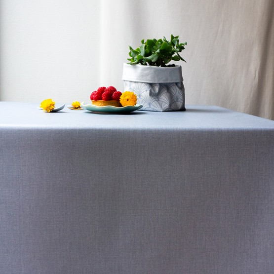 Wipe clean tablecloth Plain grey