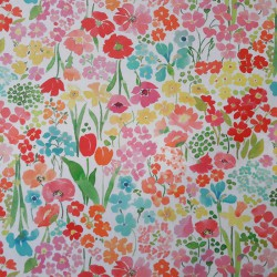 Wipe clean fabric flower garden