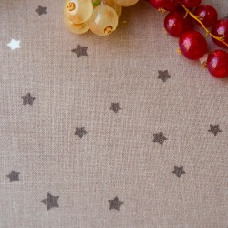 Wipe clean fabric Stars taupe