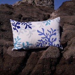 Blue Coral Cushion