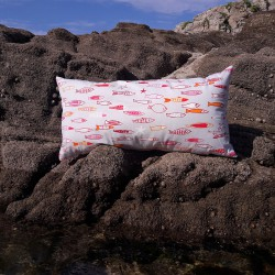 Coussin Poisson Rouge