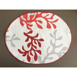 Wipe clean placemats coral red
