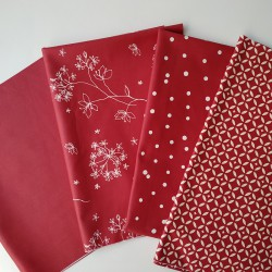 Fabric piece Plain Red / Red Astrancia / Red Confettis / Red Mosaic