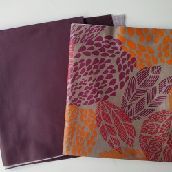 Coupons Prune unie / Feuilles prune-orange