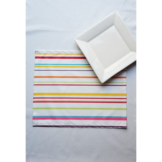 FLEUR DE SOLEIL WIPE CLEAN PLACEMATS STRIPES MULTICOLOURED