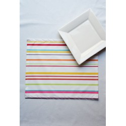 Wipe clean placemats Stripes multicoloured