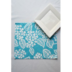 Set de table Hortensia turquoise